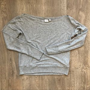 GAP wide neck ribbed long sleeve